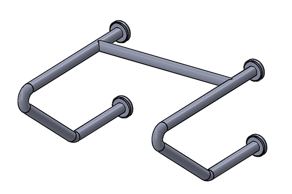 "C32 Double Rail Tapered 24"" x 24"" x 12"""