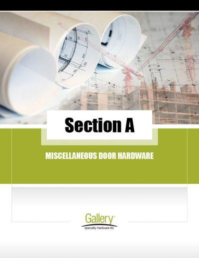 A - Misc. Door Hardware