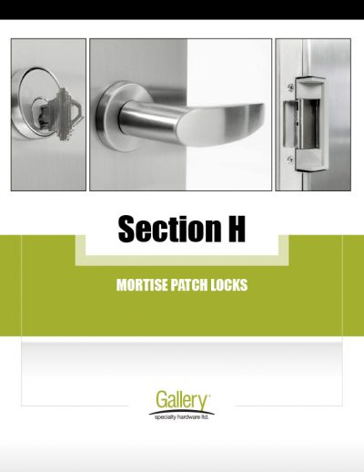 H - Mortise Patch Locks