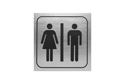"Sign #105 6"" x 6"" x Picto Man-Woman"