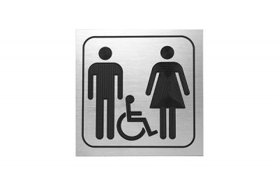 "Sign #106 6"" x 6"" x Picto Man - Woman - Handicap"