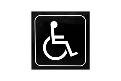 "Sign #109 6"" x 6"" Handicap Logo"