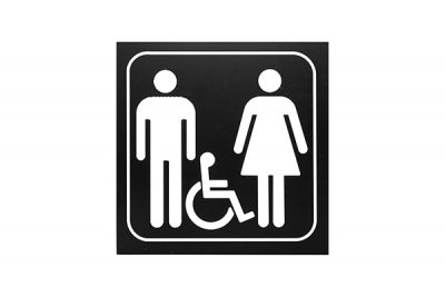 "Sign #111 6"" x 6"" x Picto Man-Woman-Handicap"