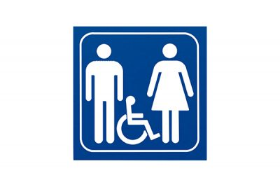 "Sign #116 6"" x 6"" x Picto Man/Woman-Handicap"